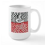 A Question Destroying a Wall Large Mug