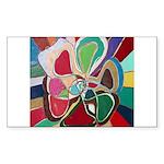 Soul or Flower Rectangle Sticker 50 pk)
