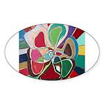 Soul or Flower Oval Sticker (10 pk)
