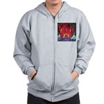 Fire on a Plane of Existence Zip Hoodie