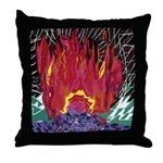Fire on a Plane of Existence Throw Pillow