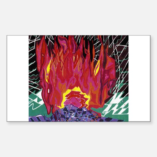 Fire on a Plane of Existence Rectangle Decal