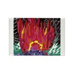 Fire on a Plane of Existence Rectangle Magnet (100