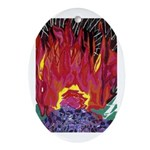 Fire on a Plane of Existence Oval Ornament
