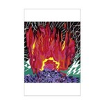 Fire on a Plane of Existence Mini Poster Print