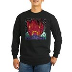 Fire on a Plane of Existence Long Sleeve Dark T-Sh