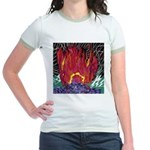 Fire on a Plane of Existence Jr. Ringer T-Shirt