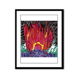 Fire on a Plane of Existence Framed Panel Print