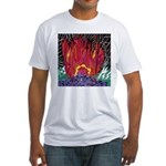 Fire on a Plane of Existence Fitted T-Shirt