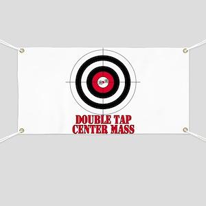 Bullseye Target Gun Safety Banner