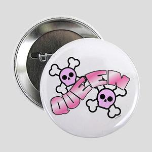 """Punk Skulls Queen 2.25"""" Button"""