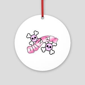 Punk Skulls Queen Ornament (Round)