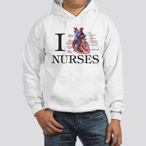 I heart Nurses Hooded Sweatshirt