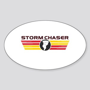 Storm Chasers Logo Bar Oval Sticker