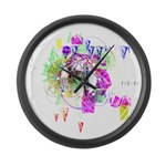 How we see space Large Wall Clock