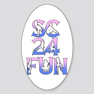 SC24FUN FAN LOGO Sticker (Oval)