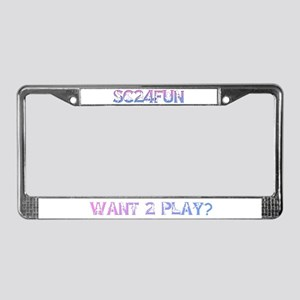 SC24FUN FAN LOGO License Plate Frame