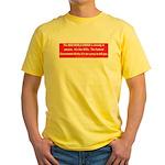 New World Order Yellow T-Shirt