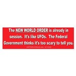 New World Order Bumper Sticker (10 pk)