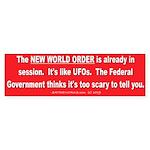 New World Order Bumper Sticker