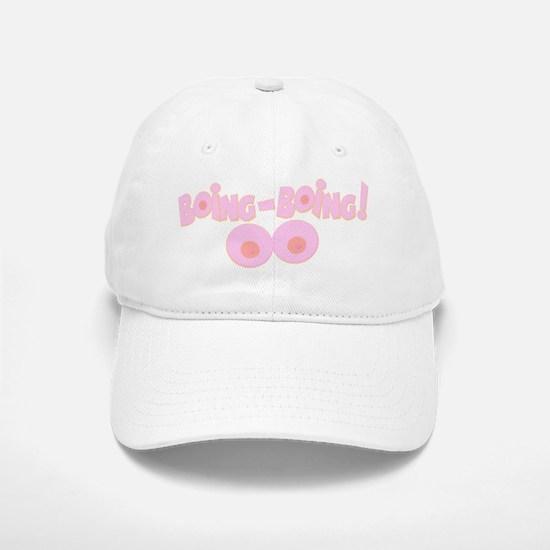 Boing-Boing White Boobie Baseball Baseball Cap