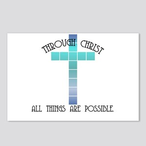 Through Christ all things are Postcards (Package o
