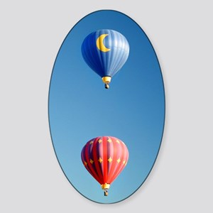 Two Balloons Oval Sticker