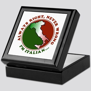 Always Right, Never Wrong Keepsake Box