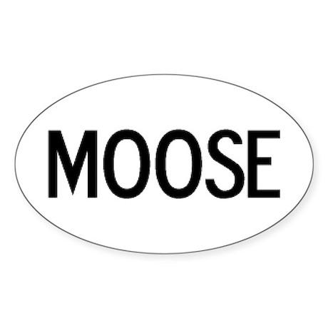Moose - Euro Oval Sticker
