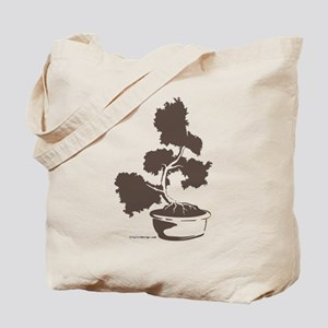 Juniper Bonsai (Gray) Tote Bag