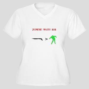 """""""Zombie Math 101"""" Women's Plus Size V-Neck T-Shirt"""