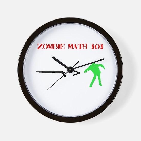 """Zombie Math 101"" Wall Clock"