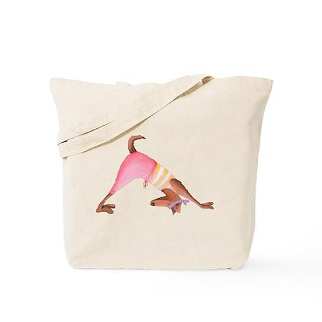 Doggie Yoga Tote Bag