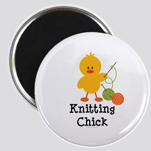 Knitting Chick Magnet