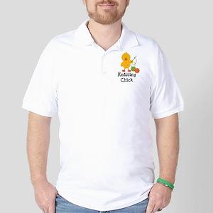 Knitting Chick Golf Shirt