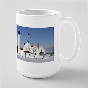 Point Iroquois Lighthouse History Large Mugs