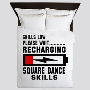 Please wait Recharging Square dance sk Queen Duvet