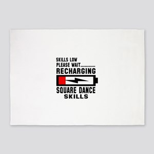Please wait Recharging Square dance 5'x7'Area Rug