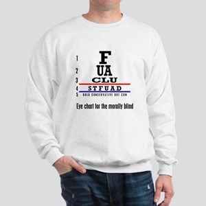 ACLU: Eye Chart morally blind Sweatshirt