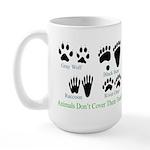 Animal Tracks Pawprints Large Mug