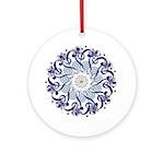 Blue Hendeca Ornament (Round)