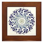 Blue Hendeca Framed Tile