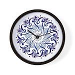 Blue Hendeca Wall Clock