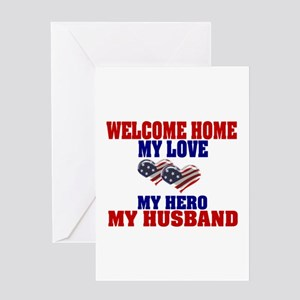 welcome home husband Greeting Card