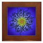 Indigo Mandala Framed Tile