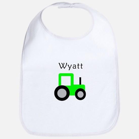 Wyatt - Lime Green Tractor Bib