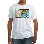 1940's Minnesota Map Fitted T-Shirt