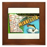 1940's Minnesota Map Framed Tile