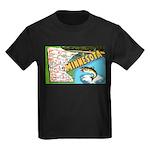 1940's Minnesota Map Kids Dark T-Shirt