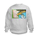 1940's Minnesota Map Kids Sweatshirt